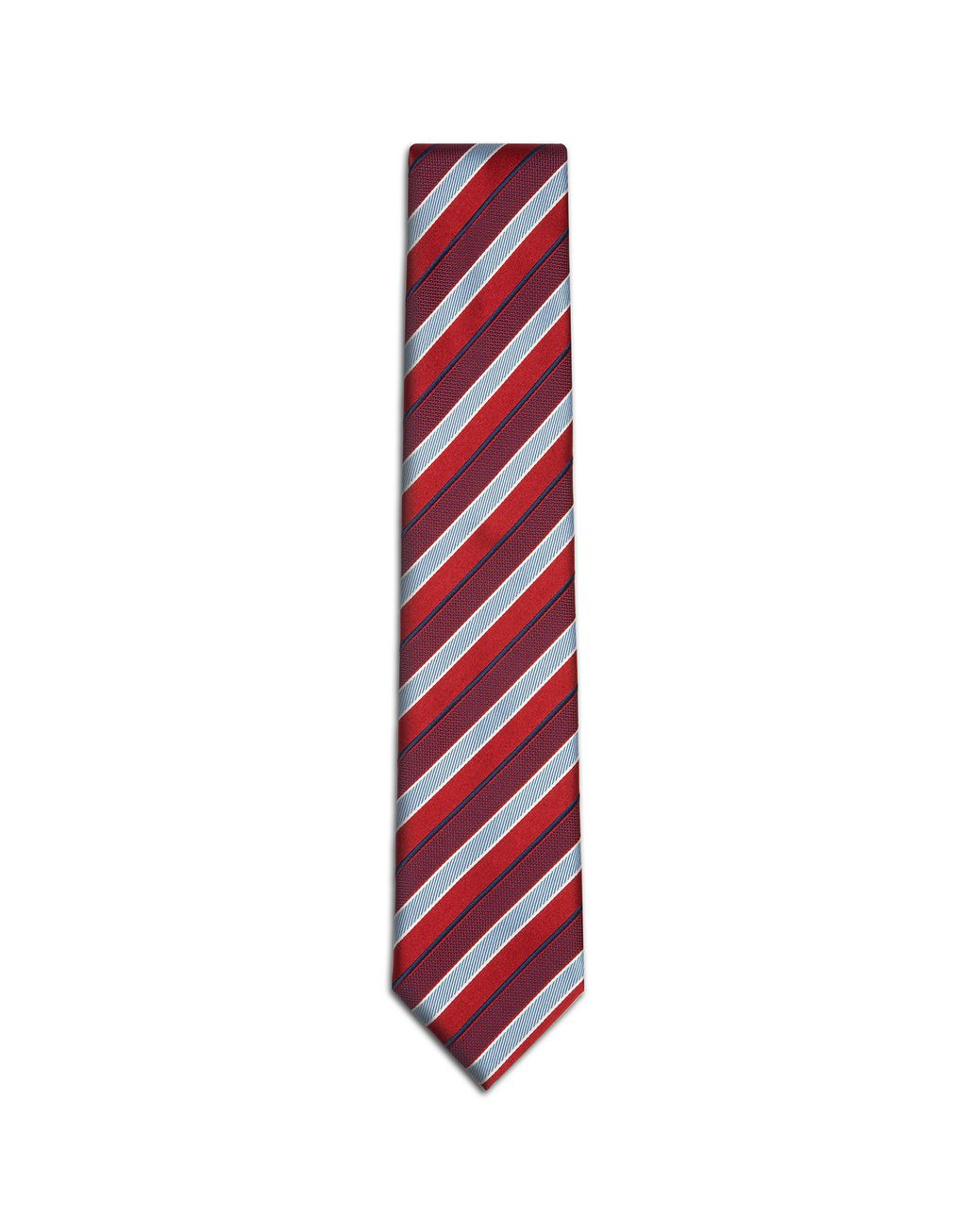 BRIONI Red Regimental Tie Tie [*** pickupInStoreShippingNotGuaranteed_info ***] f