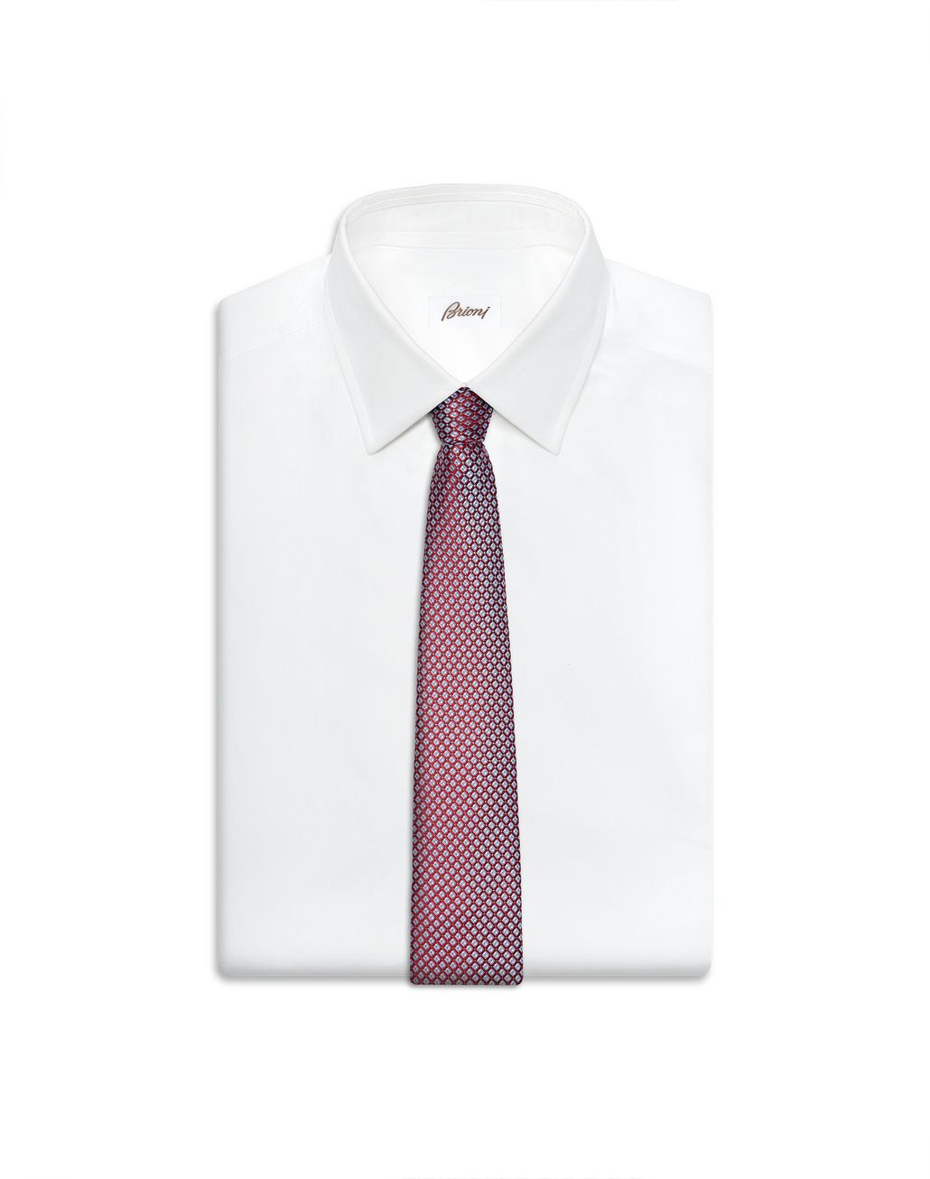 BRIONI Red and Sky-Blue Design Tie Tie Man e