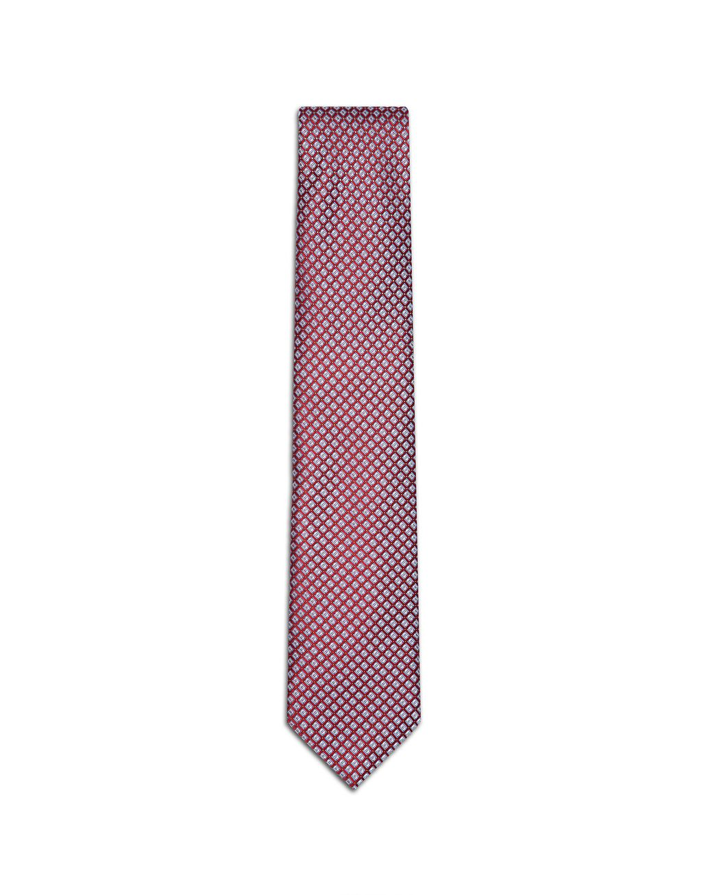 BRIONI Red and Sky-Blue Design Tie Tie Man f