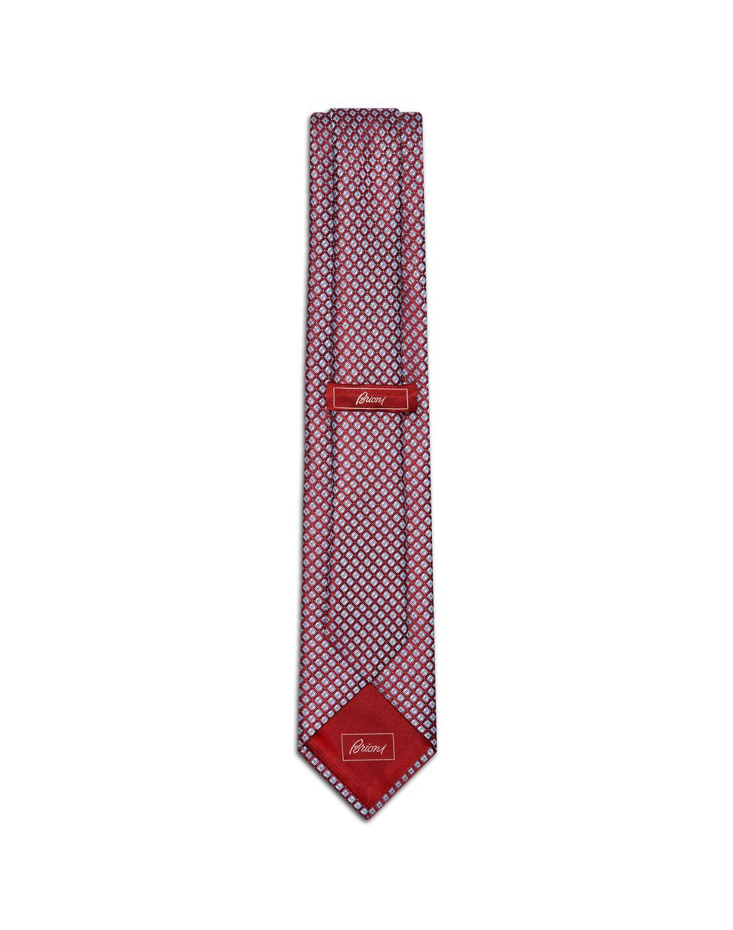 BRIONI Red and Sky-Blue Design Tie Tie Man r
