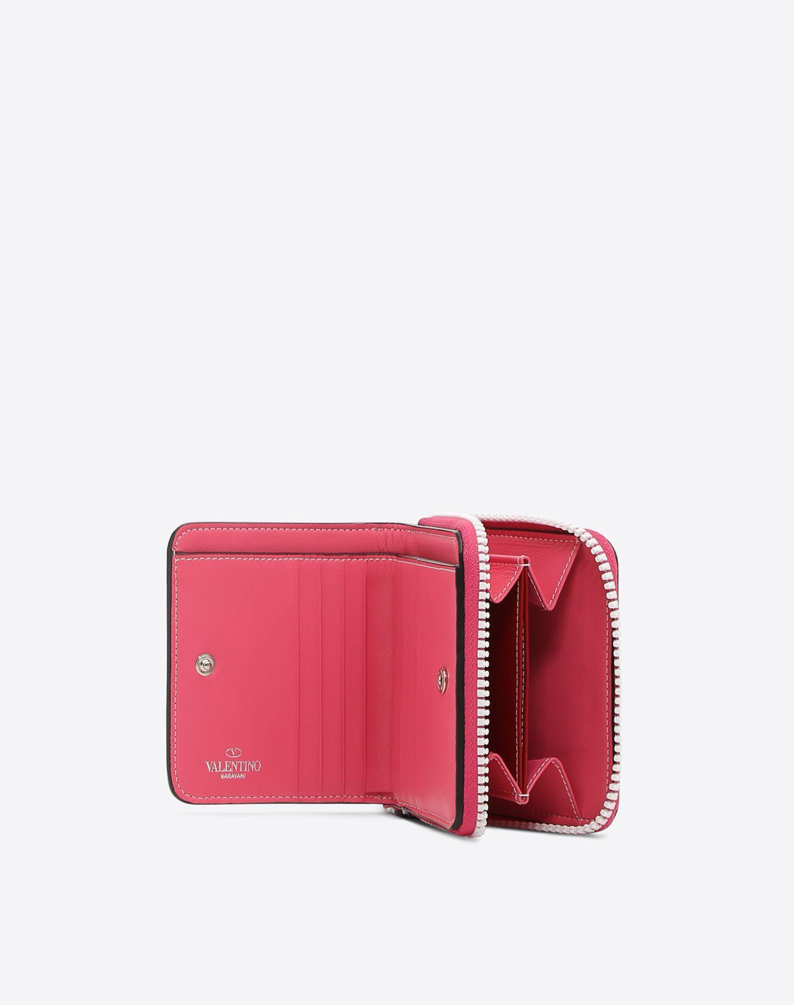 VALENTINO GARAVANI Free Rockstud Spike Compact Wallet COMPACT WALLETS D a
