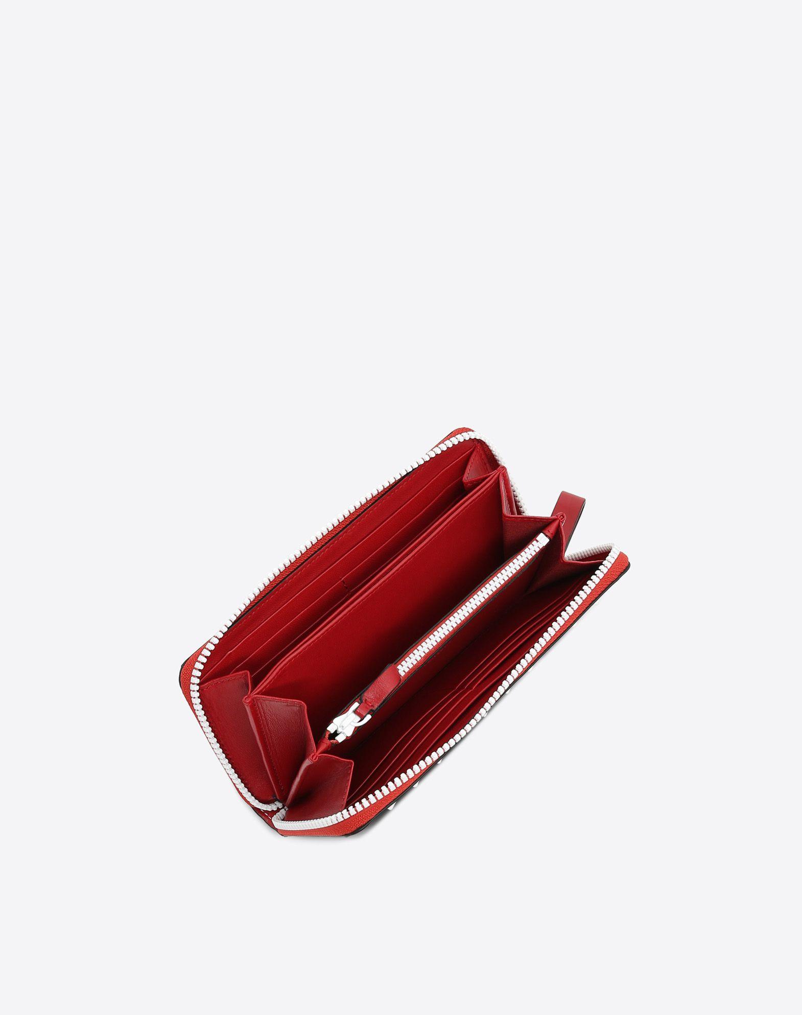 VALENTINO GARAVANI Free Rockstud Spike Wallet ZIP AROUND WALLETS D a
