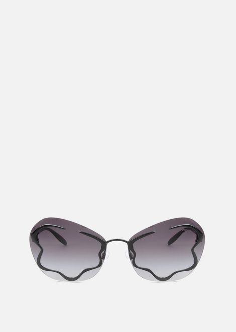 Sunglasses With Flower Shaped Embellishment