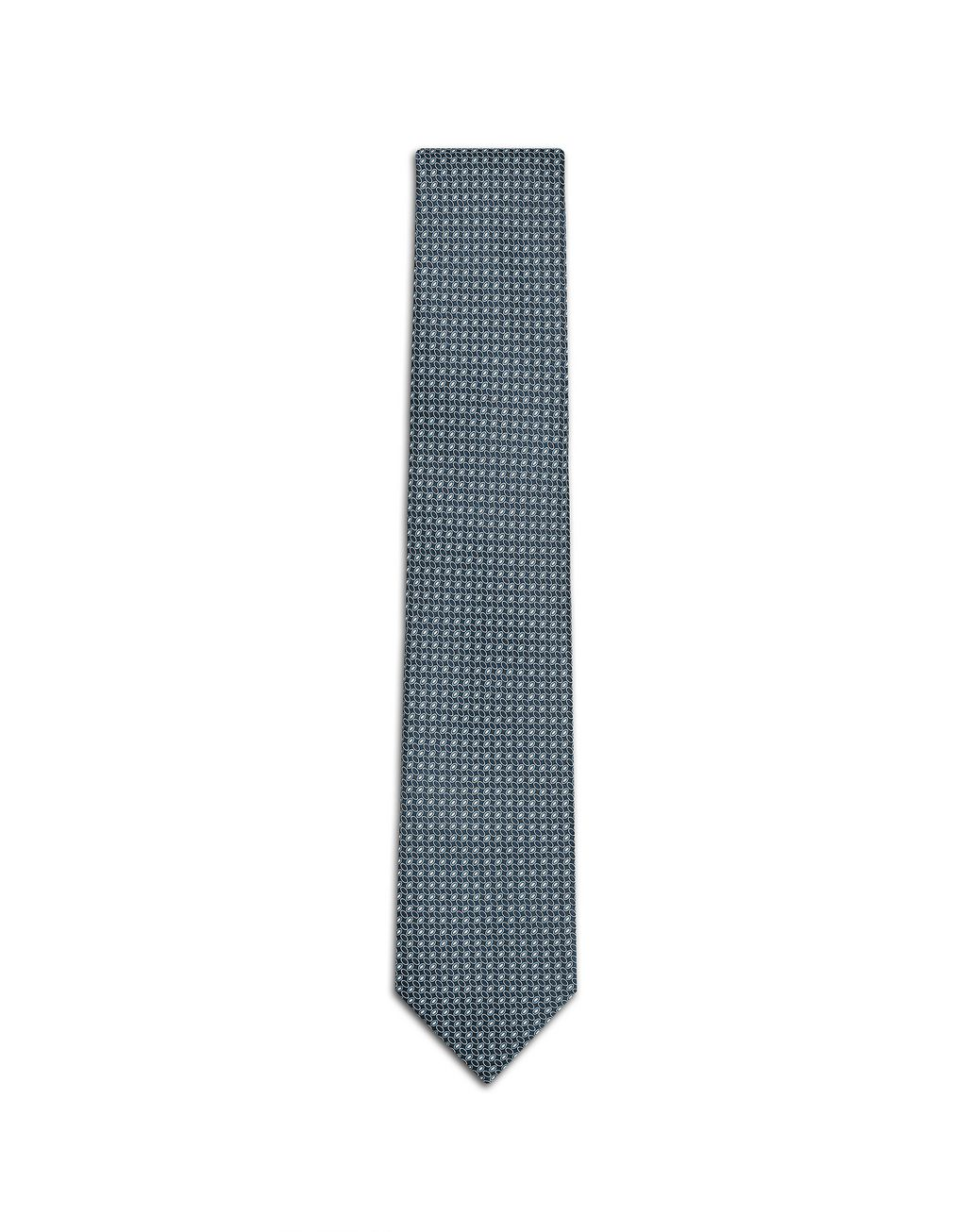 BRIONI Blue Navy Micro-Design Tie Tie [*** pickupInStoreShippingNotGuaranteed_info ***] f