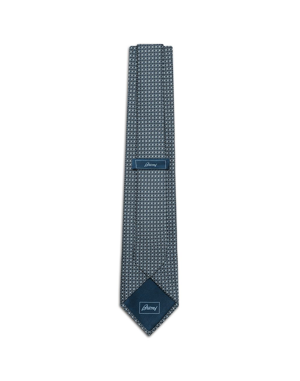 BRIONI Blue Navy Micro-Designed Tie Tie [*** pickupInStoreShippingNotGuaranteed_info ***] r