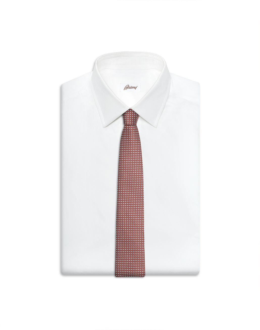 BRIONI Cravate bordeaux à motif minuscule Cravate Homme e