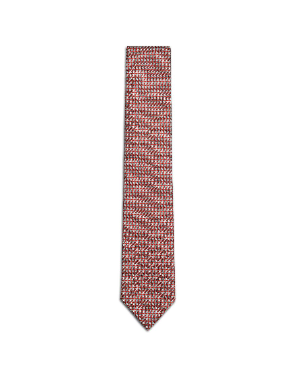 BRIONI Bordeaux Micro -Designed Tie Tie [*** pickupInStoreShippingNotGuaranteed_info ***] f