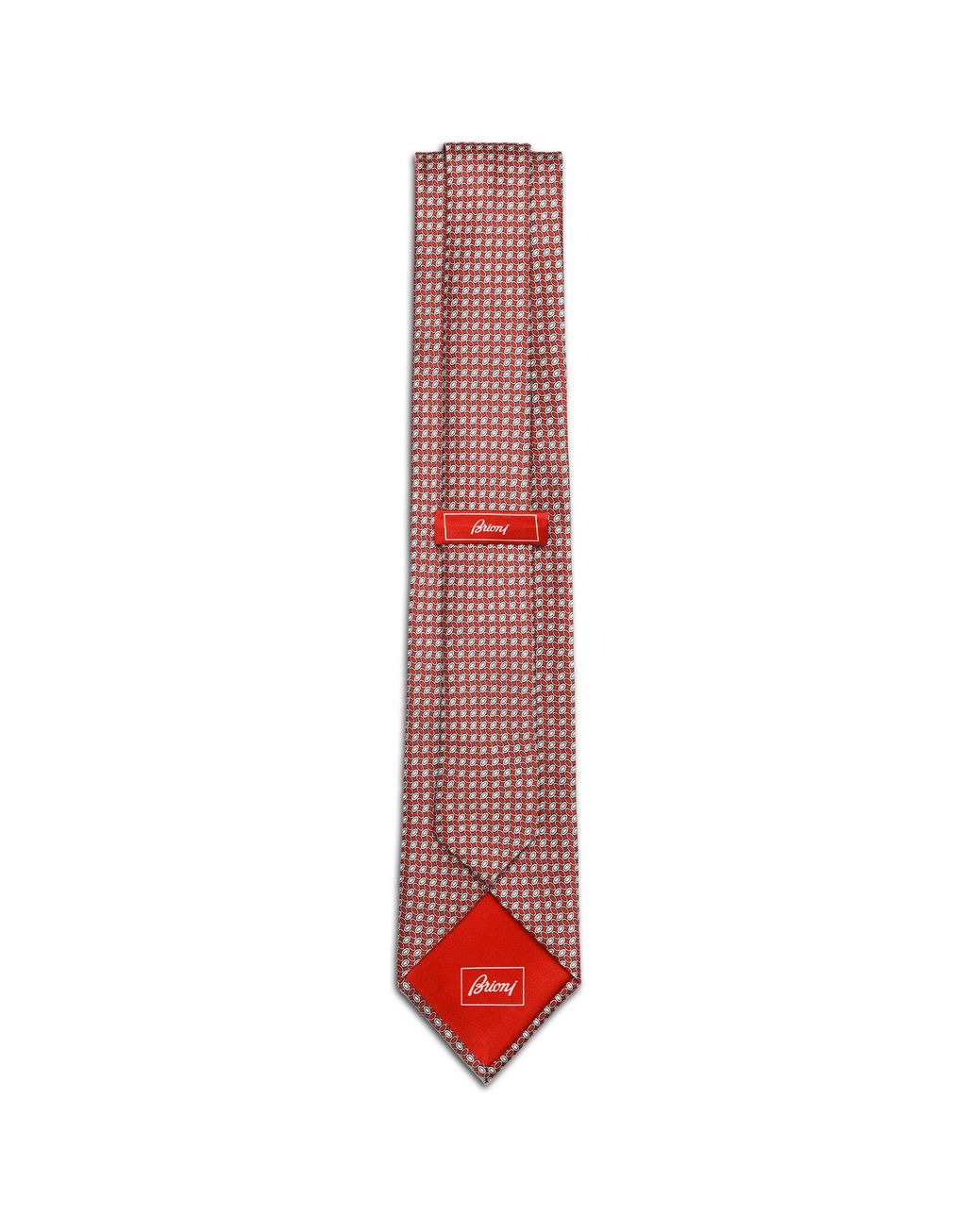 BRIONI Bordeaux Micro -Designed Tie Tie [*** pickupInStoreShippingNotGuaranteed_info ***] r