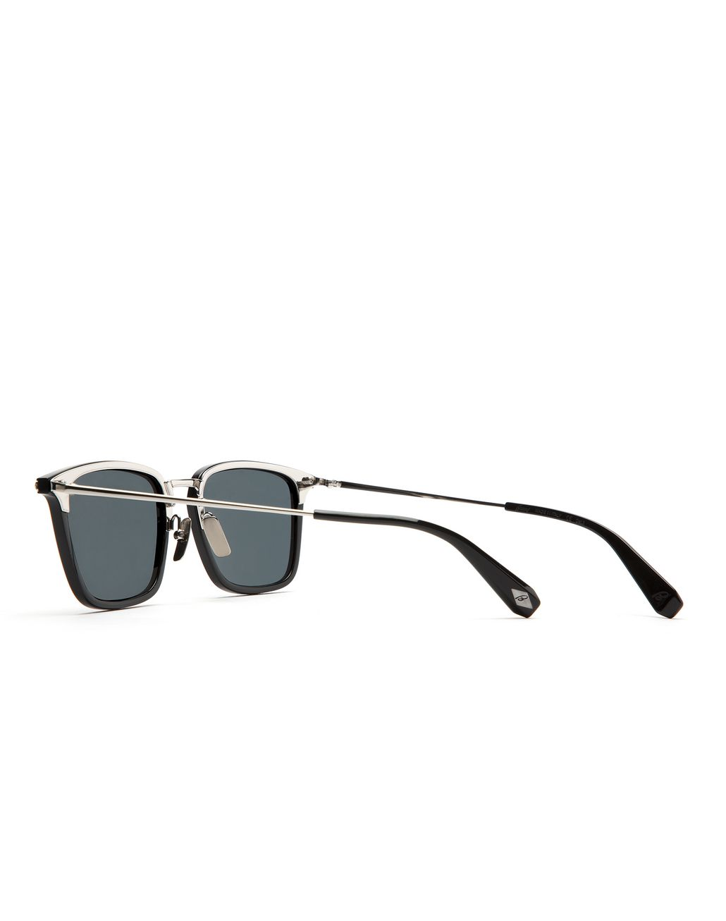 BRIONI Shiny Black Squared Sunglasses with Grey Lenses  Sunglasses Man d