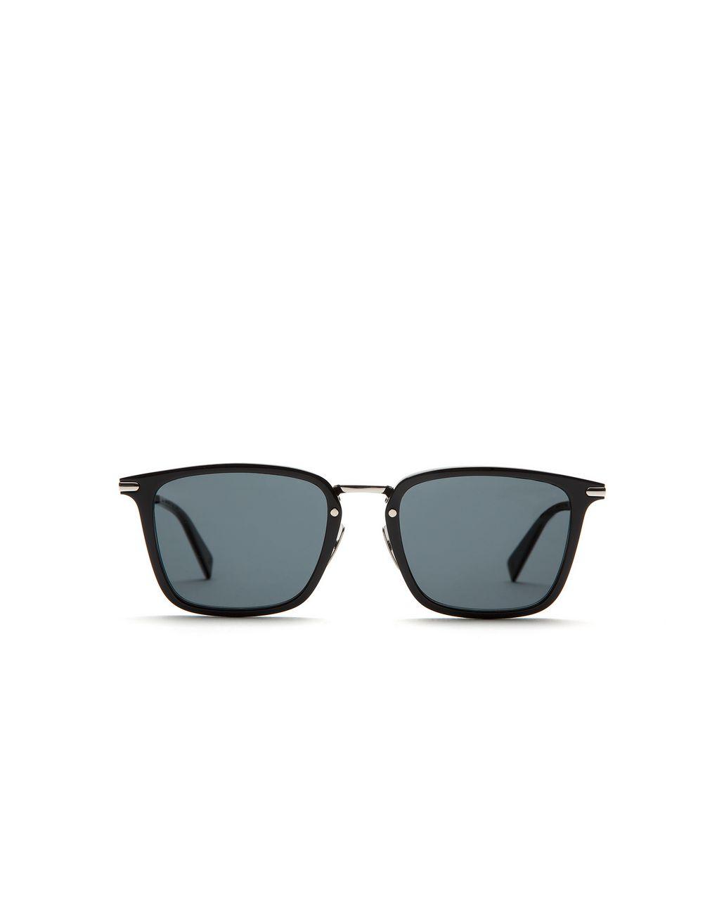 BRIONI Shiny Black Squared Sunglasses with Gray Lenses  Sunglasses Man f