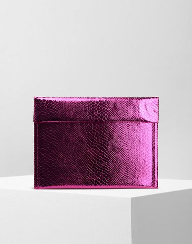 MM6 MAISON MARGIELA Document holder Woman Embossed metallic pouch f