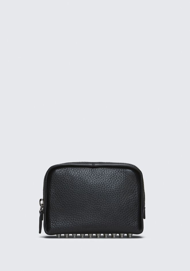 ALEXANDER WANG SMALL LEATHER GOODS Women BLACK FUMO COSMETIC POUCH