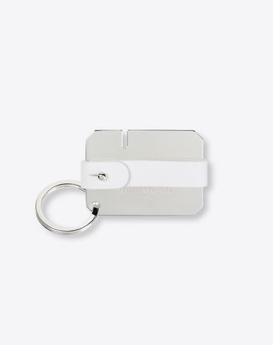 MAISON MARGIELA Key ring Man Calfskin and brass key ring f