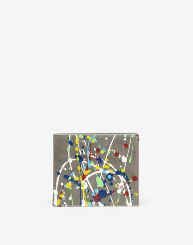 MAISON MARGIELA Wallets U Paint-drop calfskin wallet f