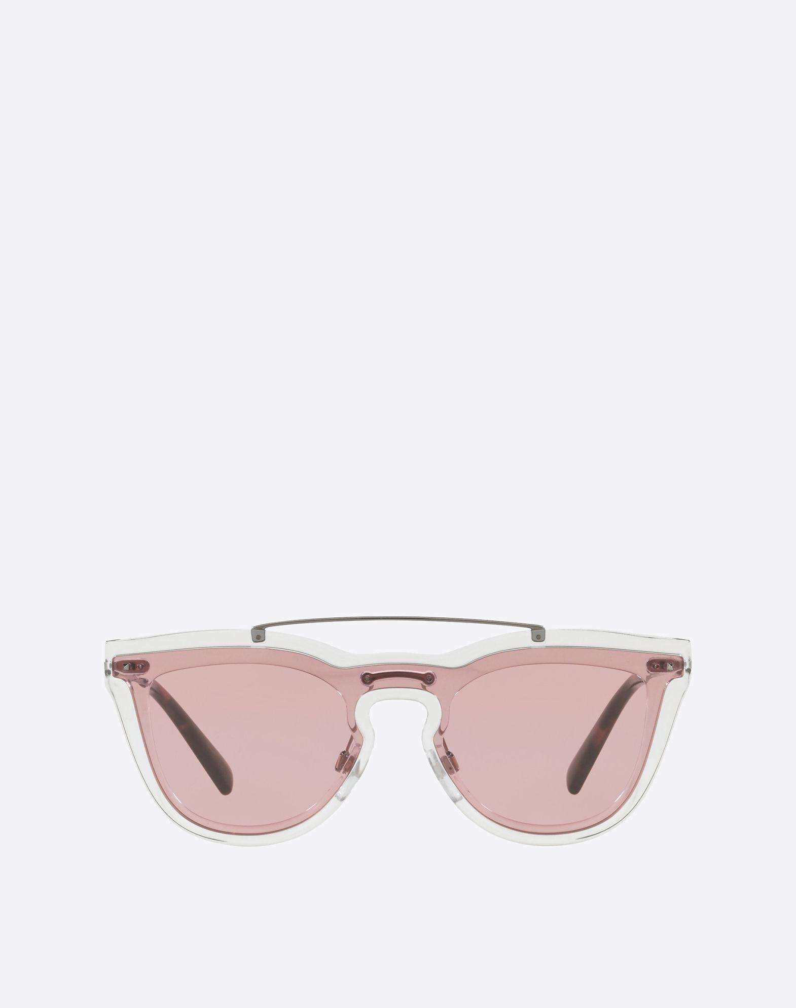 Valentino Garavani Metall und Nylon Sonnenbrille aus rosanem Metall LiKK9ww