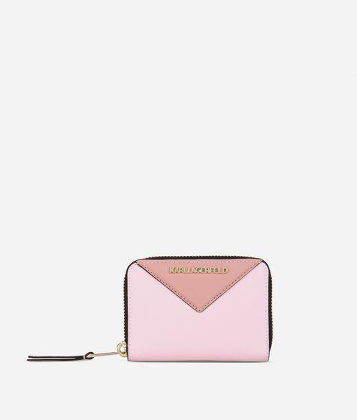 KARL LAGERFELD K/Klassik kleine Brieftasche mit umlaufendem Reißverschluss 12_f
