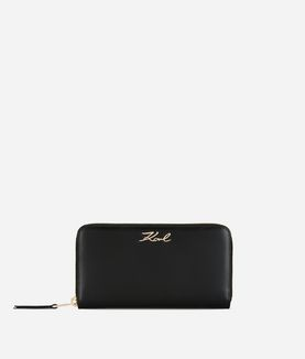 KARL LAGERFELD K/SIGNATURE ZIP-AROUND WALLET