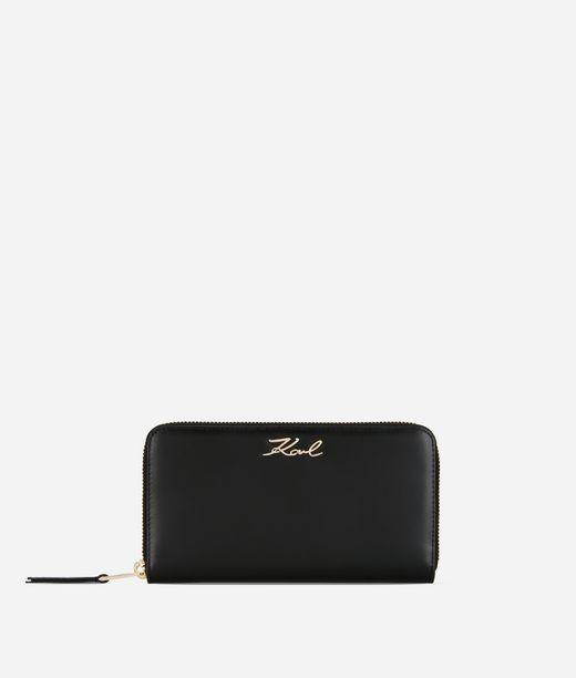 KARL LAGERFELD K/Signature Zip-Around Wallet 12_f