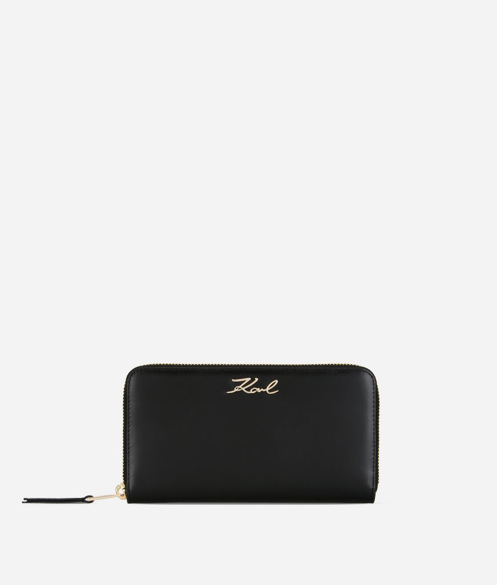 KARL LAGERFELD K/Signature Zip-Around Wallet Wallet Woman f