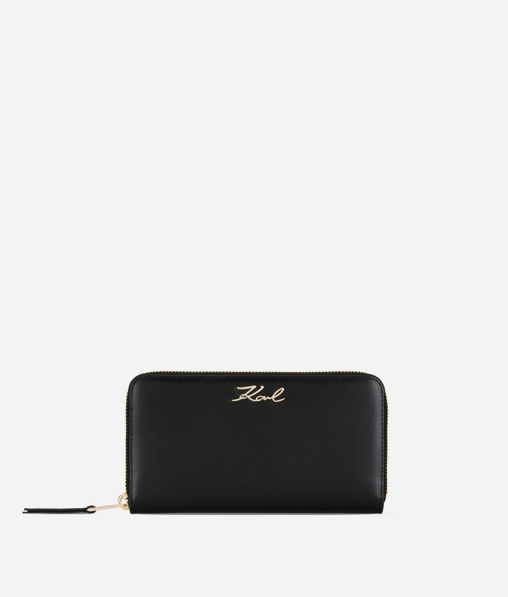 KARL LAGERFELD Portefeuille à contour zippé K/Signature Portefeuille Femme f