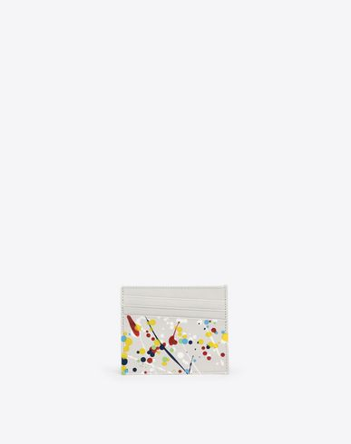 MAISON MARGIELA Credit card holder Man Paint-drop credit card holder f