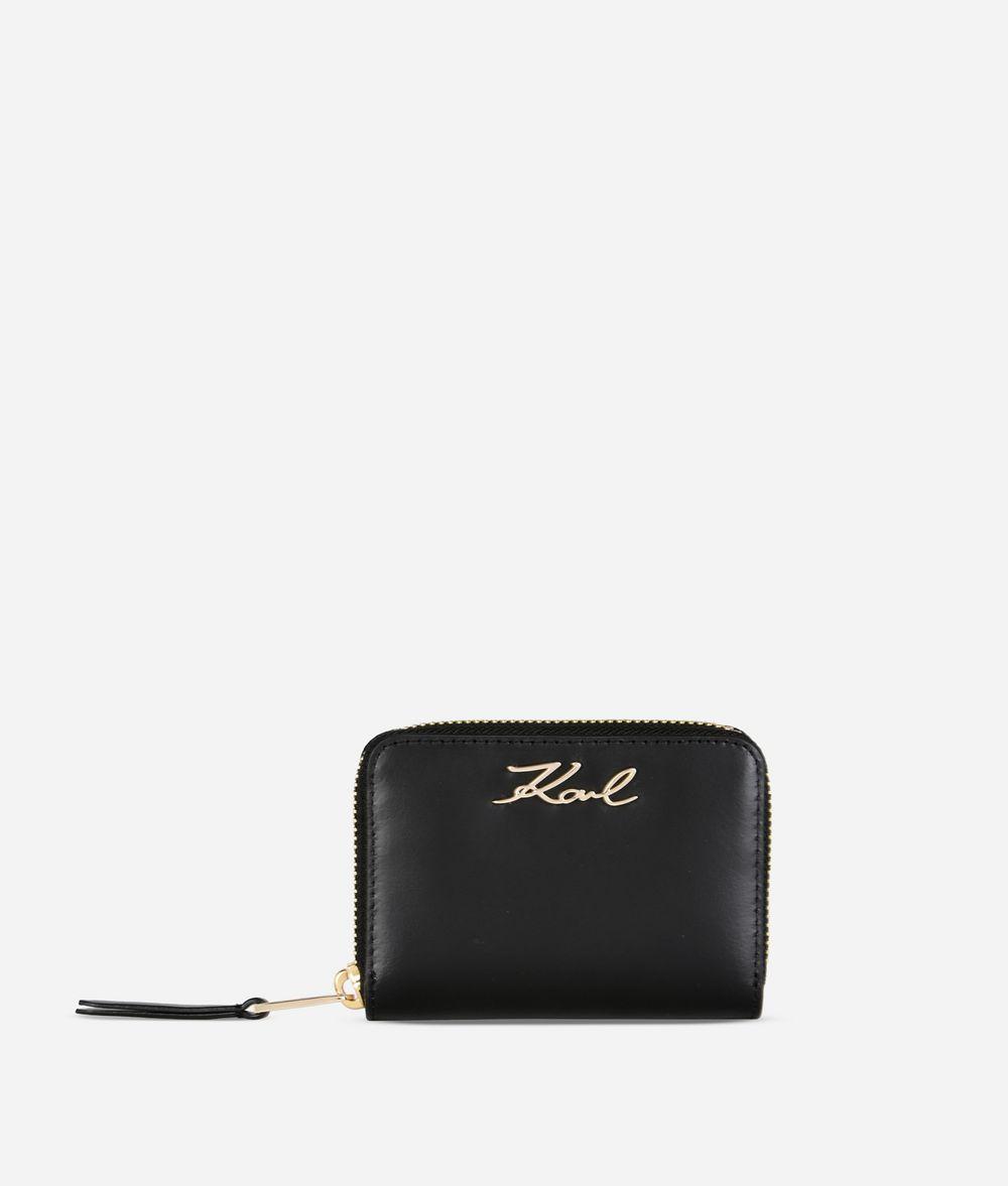 KARL LAGERFELD K/Signature Sm Zip Wallet  Wallet Woman f