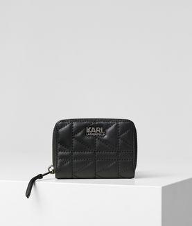 KARL LAGERFELD K/KUILTED SMALL ZIP WALLET