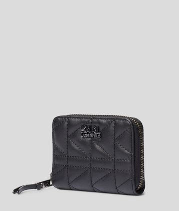 KARL LAGERFELD K/KUILTED SMALL ZIP-AROUND WALLET