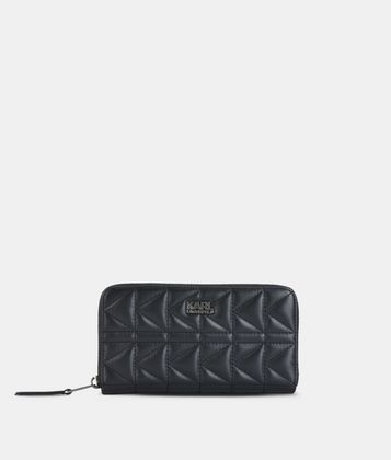 KARL LAGERFELD K/KUILTED ZIP-AROUND WALLET