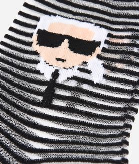 KARL LAGERFELD K/IKONIK STRIPED SOCKS