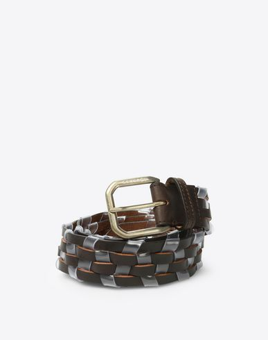 MAISON MARGIELA Belt Man Woven calfskin & PVC belt f