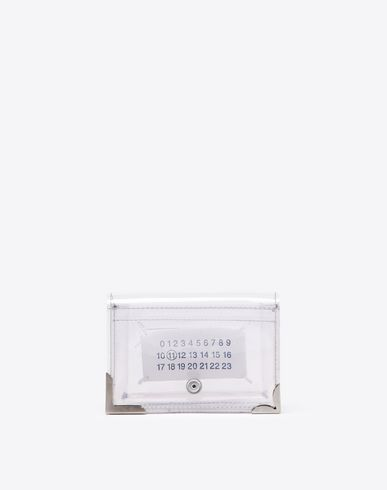 MAISON MARGIELA Wallet Woman Transparent PVC wallet f