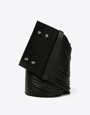 MAISON MARGIELA Belt Woman Thick fringe calfskin belt f