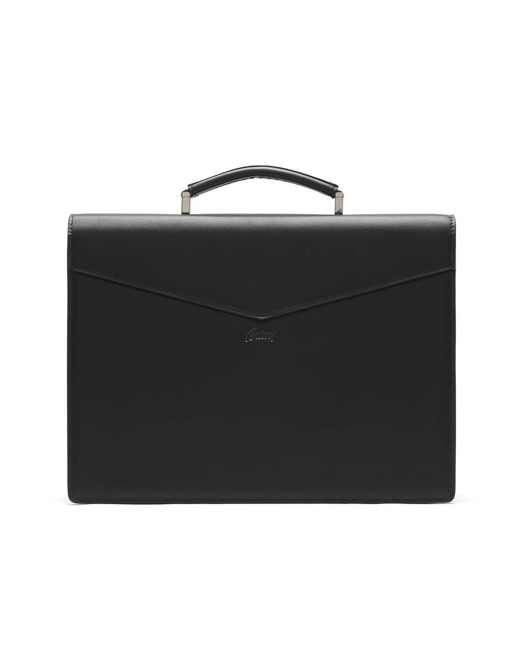 BRIONI Black Calfskin Leather Briefcase Business bag Man d