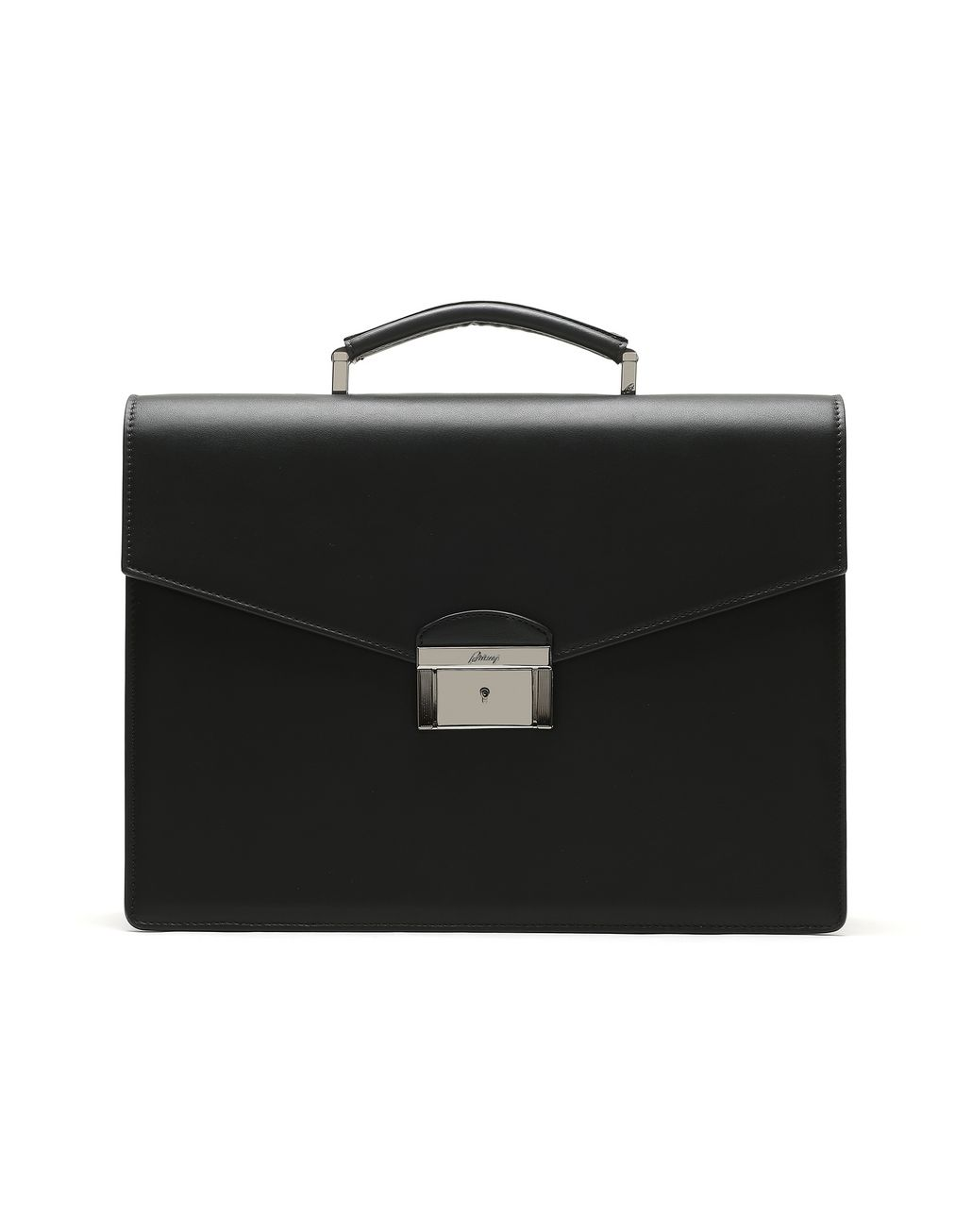 BRIONI Black Calfskin Leather Briefcase Business bag Man f