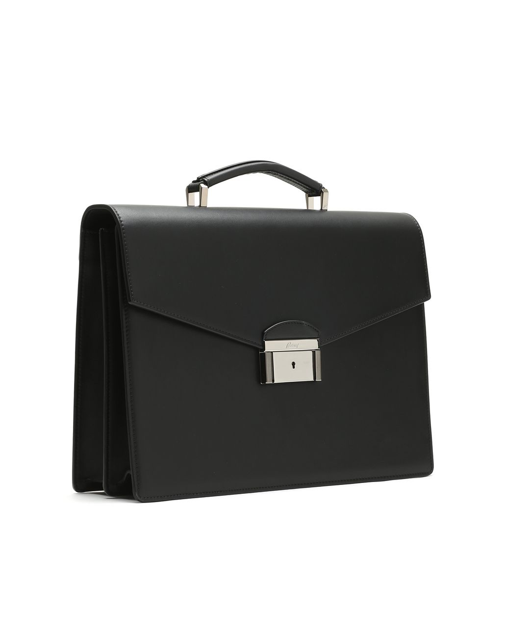 BRIONI Black Calfskin Leather Briefcase Business bag Man r