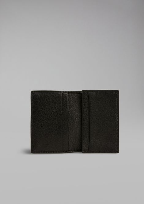 Card holder in hammered leather
