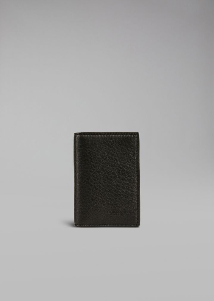 58e36fd258 Card holder in hammered leather