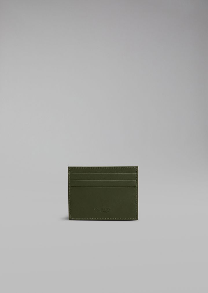 e8609e6b89 Leather cardholder | Man | Giorgio Armani