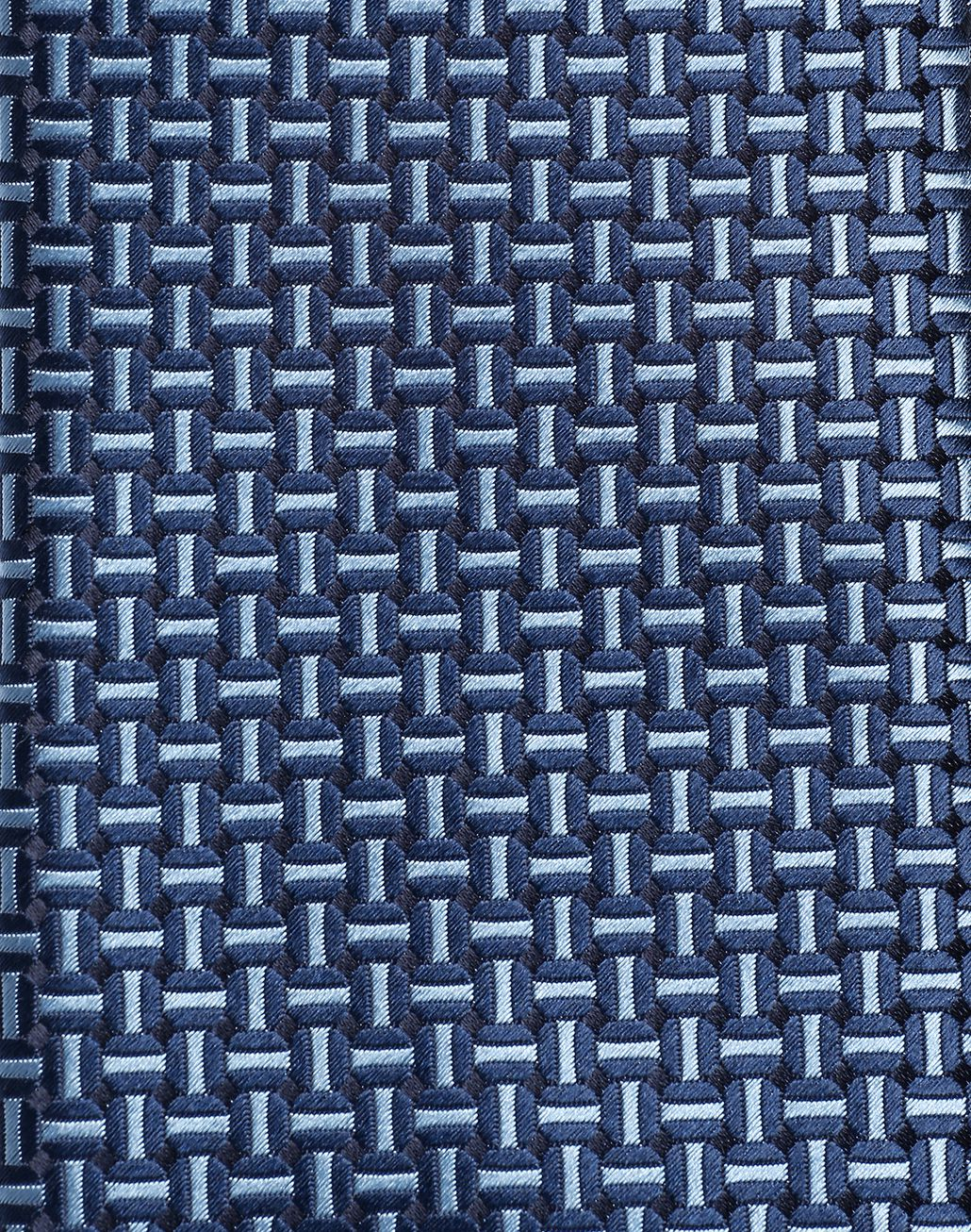 BRIONI Navy Blue and Bluette Macro Designed Tie Tie Man d