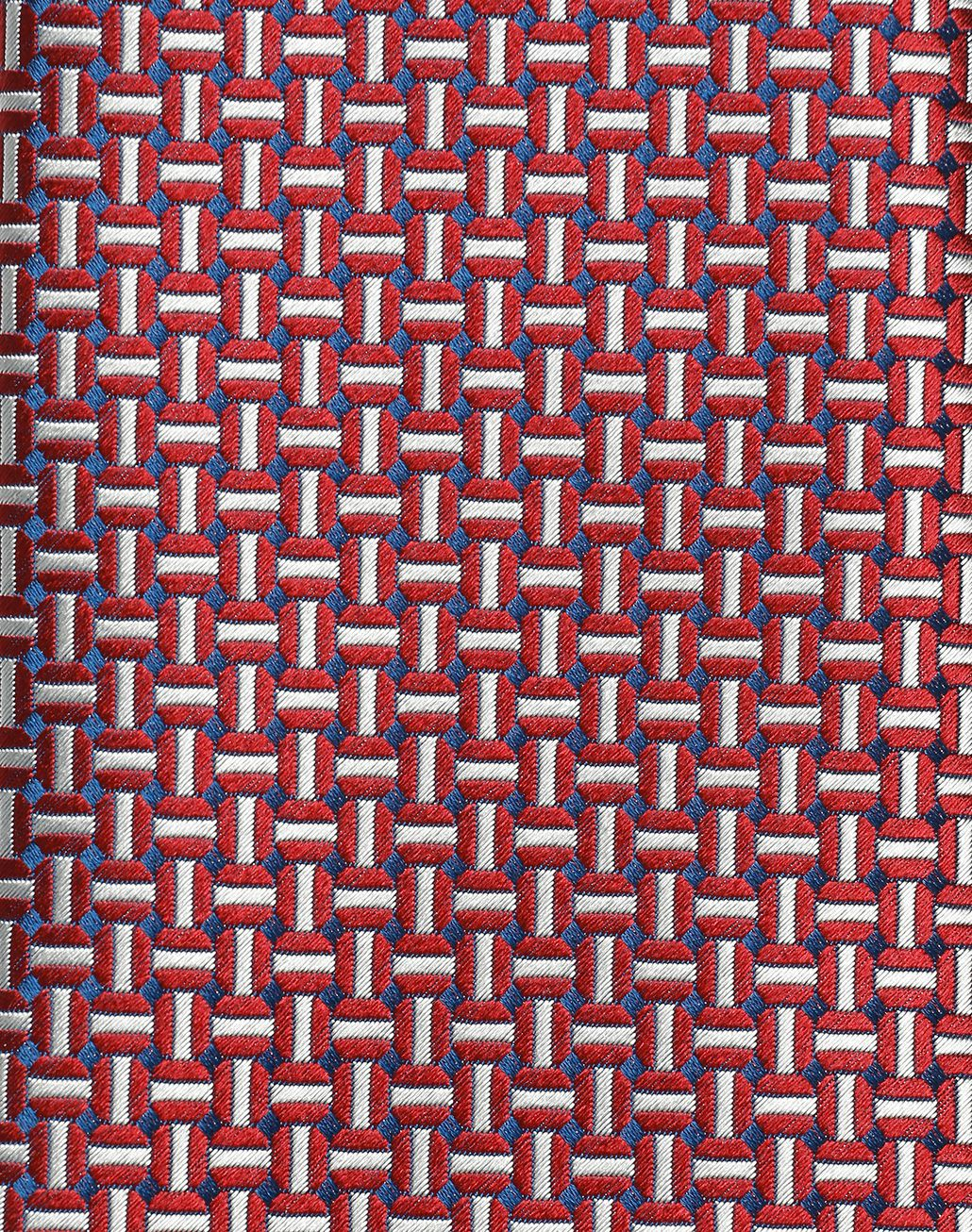 BRIONI Bordeaux and Ivory Design Tie Tie Man d