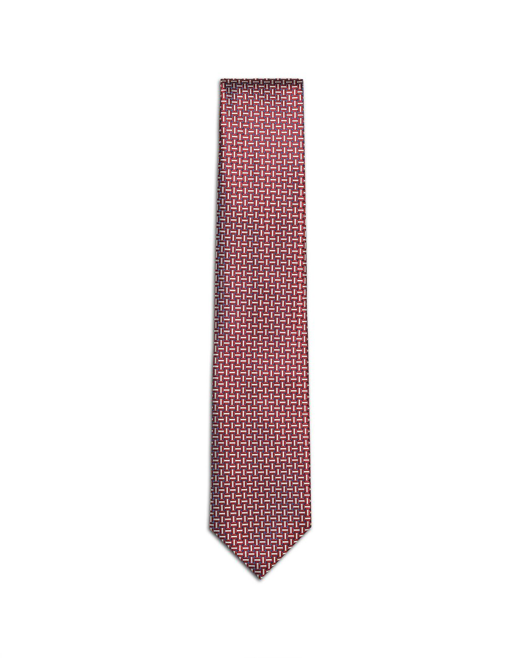 BRIONI Bordeaux and Ivory Design Tie Tie Man f