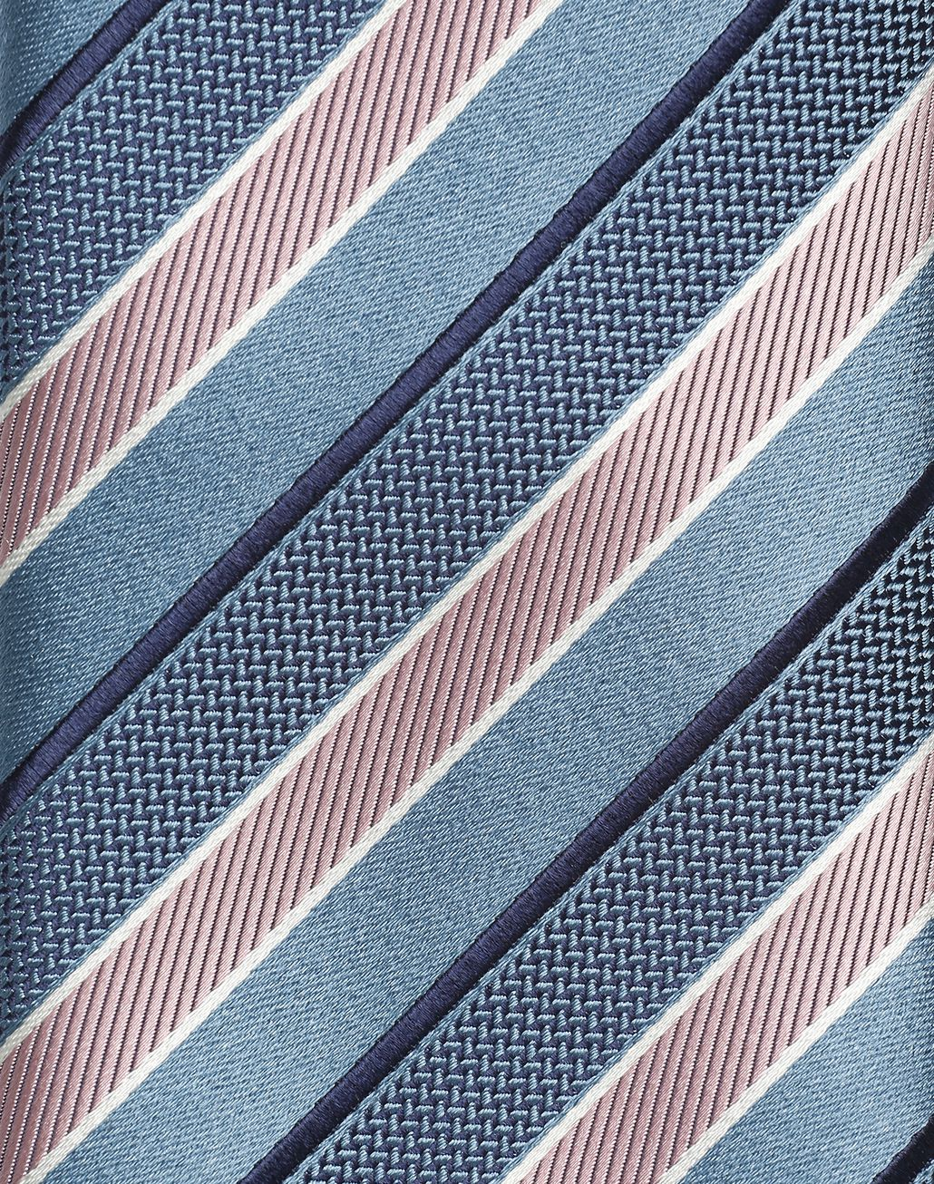 BRIONI Bluette Regimental Tie Tie Man d