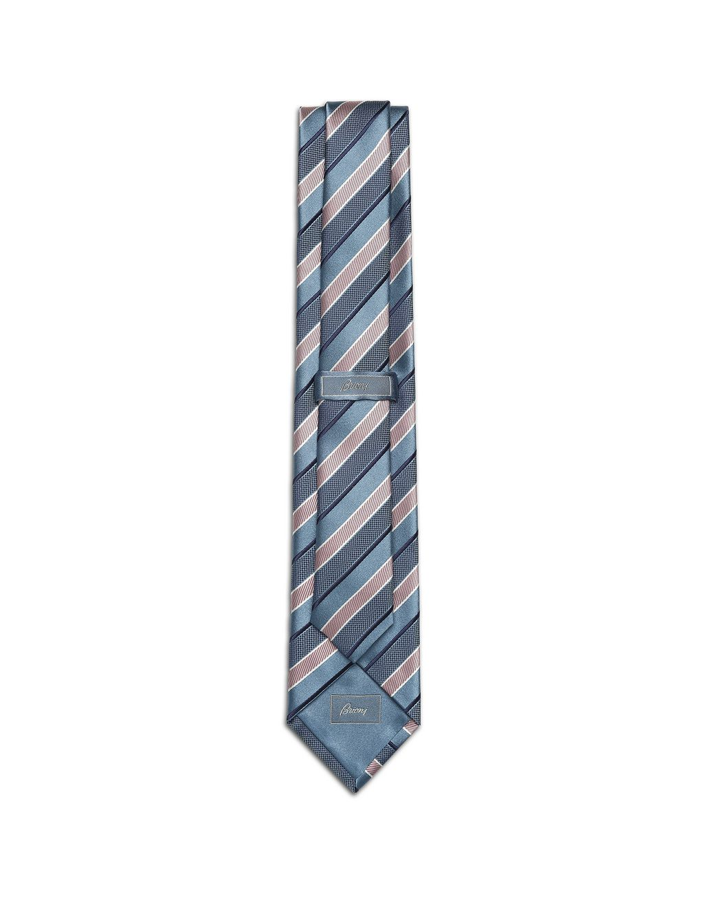 BRIONI Bluette Regimental Tie Tie Man r