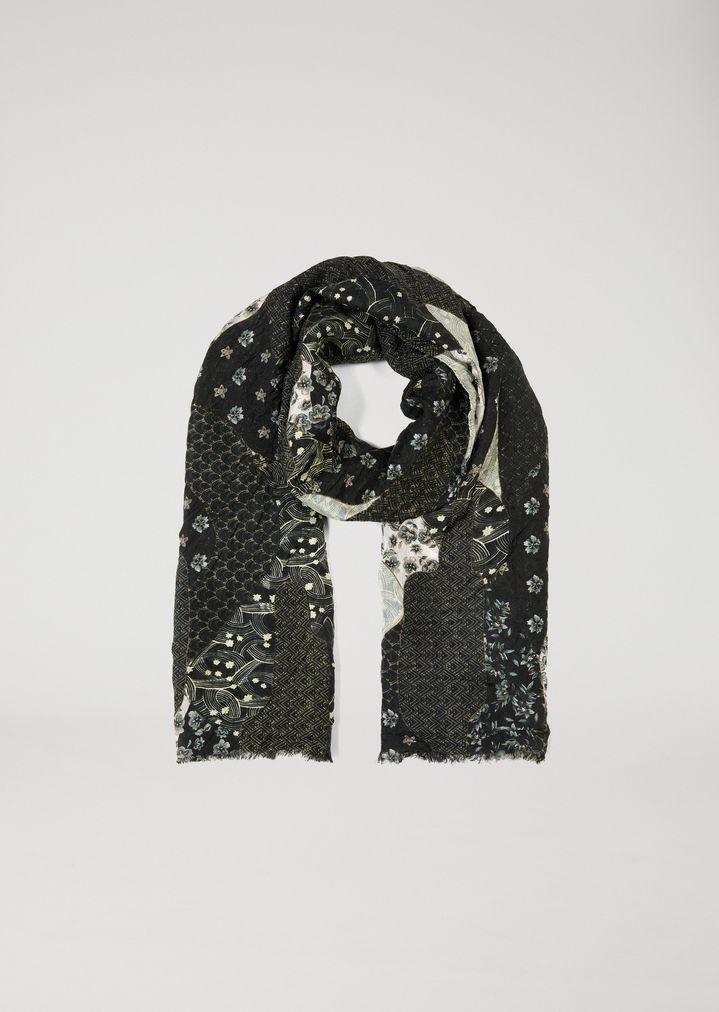 logo contrast scarf - Black Emporio Armani KIxKrkV