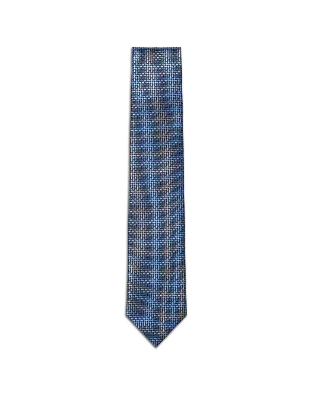 BRIONI Bluette and Navy-Blue Micro-Design Tie Tie Man f