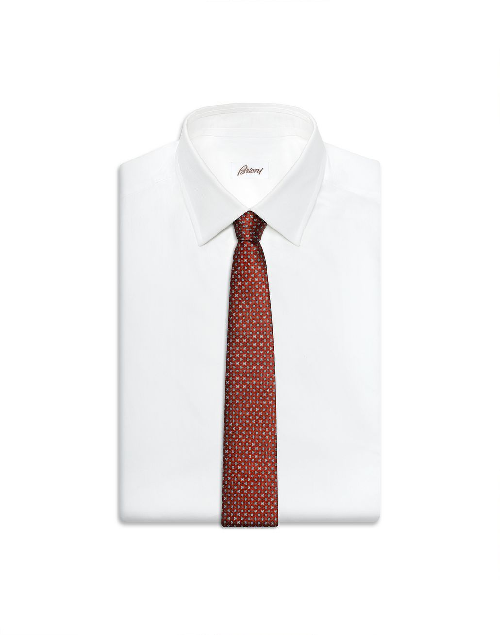 BRIONI Bordeaux Micro-Design Tie Tie [*** pickupInStoreShippingNotGuaranteed_info ***] e