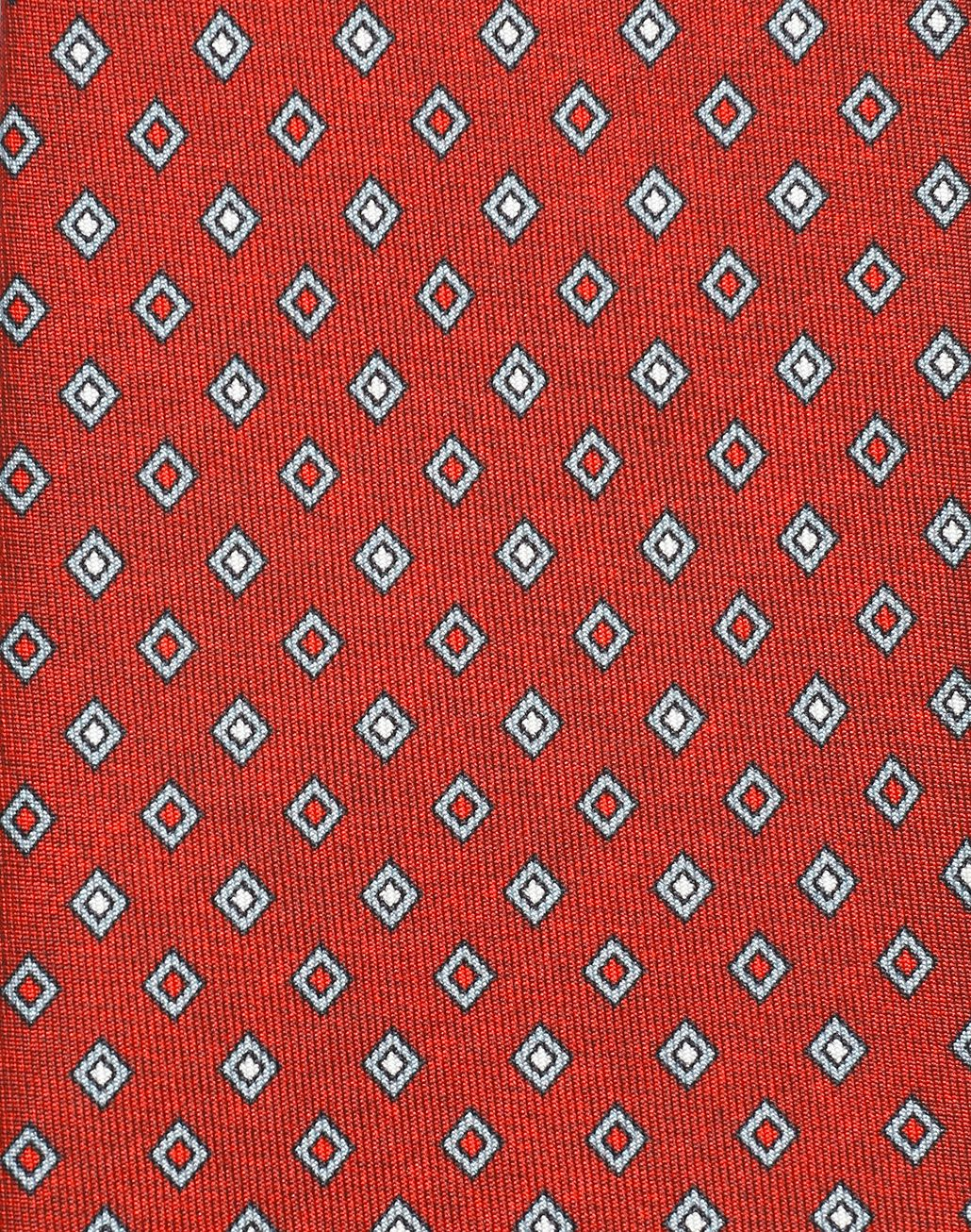 BRIONI Red and Grey Micro Designed Tie Tie Man d