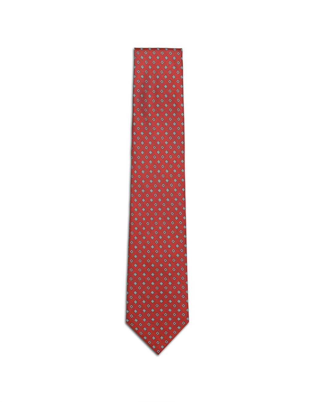 BRIONI Red and Grey Micro Designed Tie Tie [*** pickupInStoreShippingNotGuaranteed_info ***] f