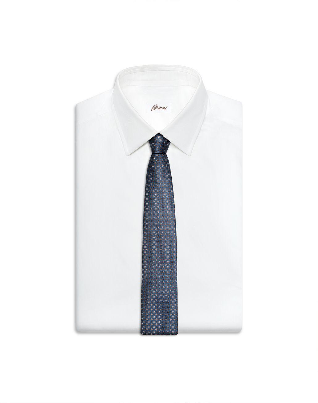 BRIONI Cravatta Bluette con Microfantasia Cravatta Uomo e